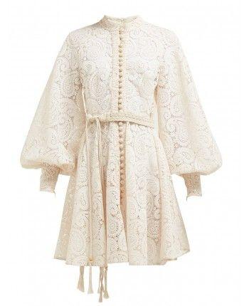 Мереживне плаття з поясом 110232