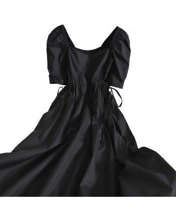 Чорне бавовняне плаття 110251