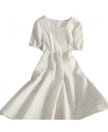 Цветочное платье с кружевом 110248