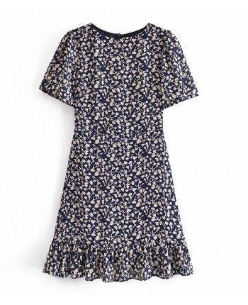 Шифоновое платье с цветами 110278