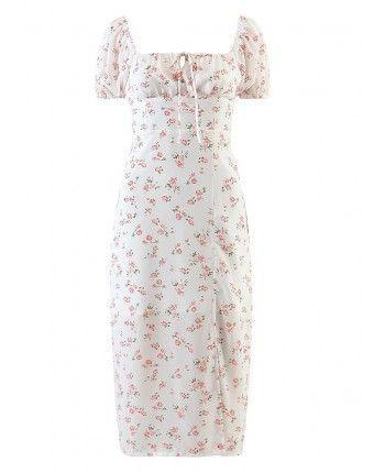 Шифоновое платье с разрезом 110289