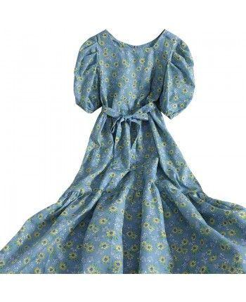 Хлопковое платье с цветами 110303