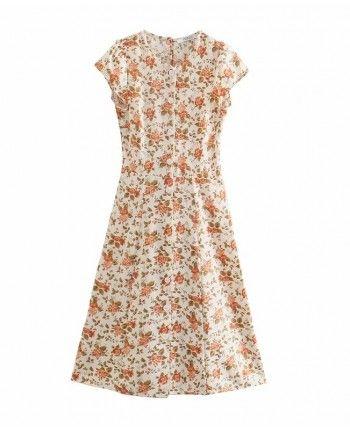 Шифонове платье на пуговицах 110349