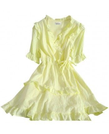 Хлопковое платье на запах 110320