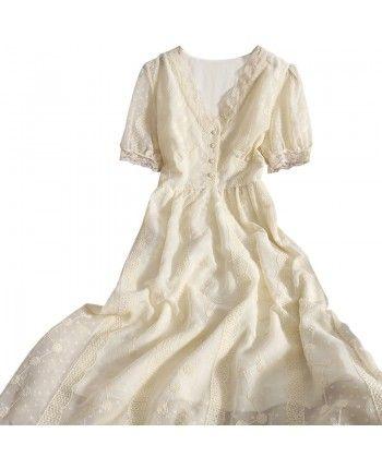 Шифоновое платье с вышивкой 110305