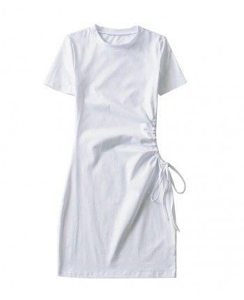 Коттоновое платье с вырезом 110338