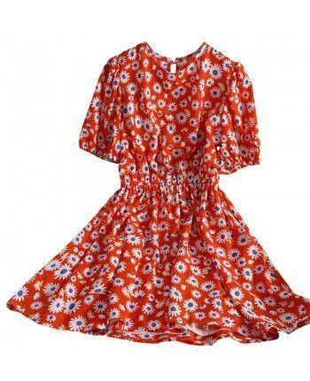 Яркое цветочное платье 110357