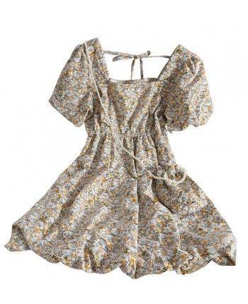 Платье с пышными рукавами 110326