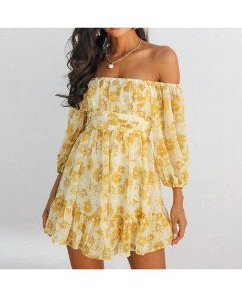 Платье с открытыми плечами 110400