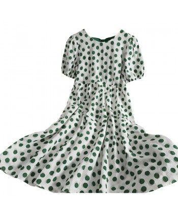 Легкое платье в горошек 110339