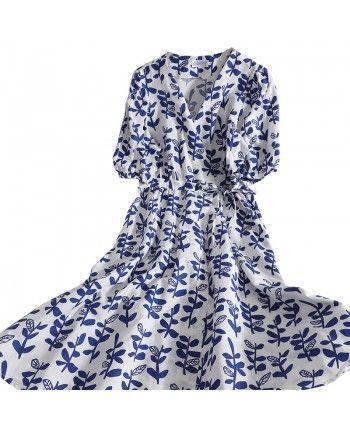 Хлопковое платье на запах 110340