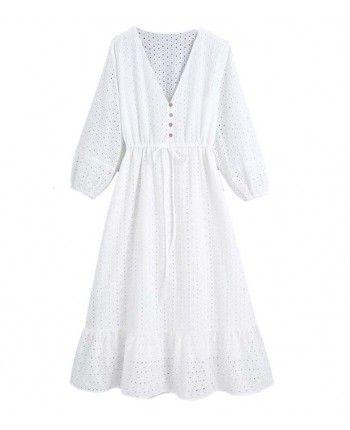 Довга сукня із прошви 110372