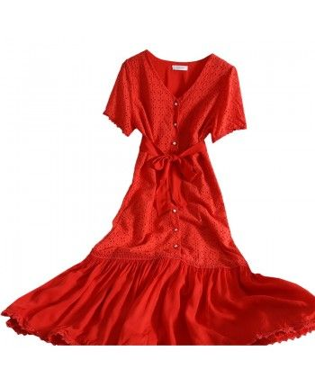 Платье с поясом 110386
