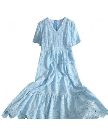 Длинное платье из прошвы 110394