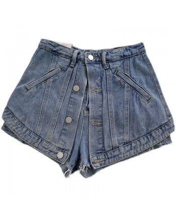 Джинсовые шорты-юбка 110379