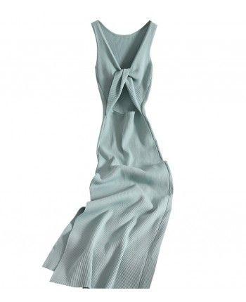 Трикотажна сукня з розрізом 110456