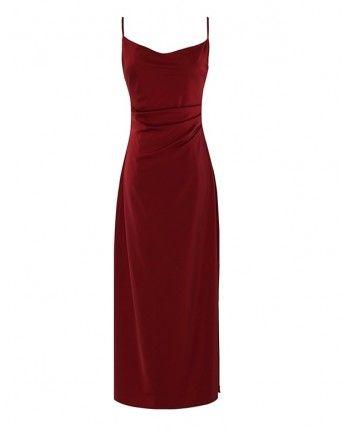 Атласна сукня з розрізом 110459