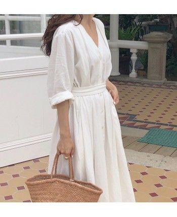 Лляна сукня-сорочка 110468