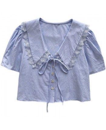 Блуза с воротником 110425