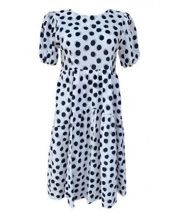 Легка сукня в горошок 110339