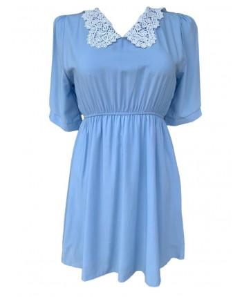 Бавовняна сукня з коміром 110241