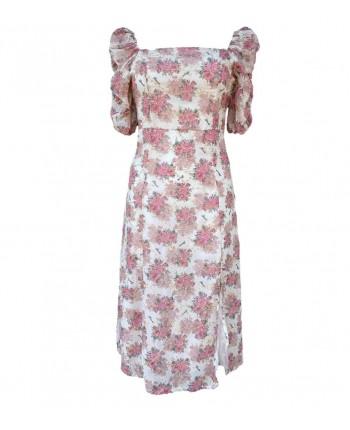Квіткова сукня з розрізом 110308