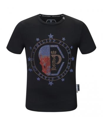 Черная футболка с черепом 110120