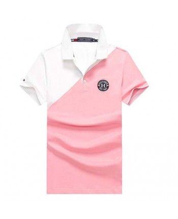 Двухцветная футболка поло 110100