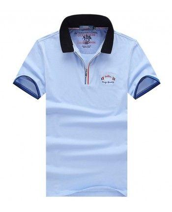 Однотонная футболка поло 110187