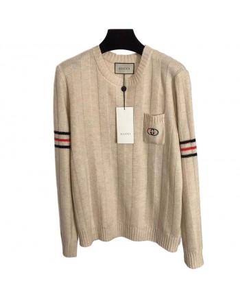 Вязаный бежевый свитер 19755