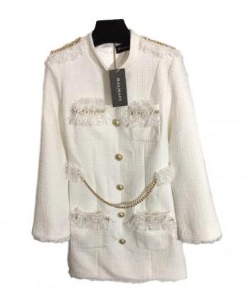Белое твидовое платье 19831