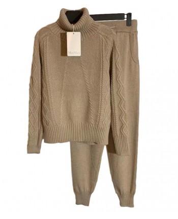 Вязаный теплый костюм 19823