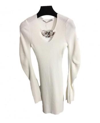 Трикотажное платье с цепочкой 19824