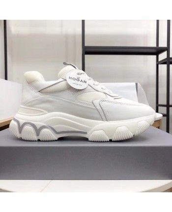 Кожаные белые кроссовки 110167