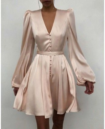 Атласна сукня міні 110472