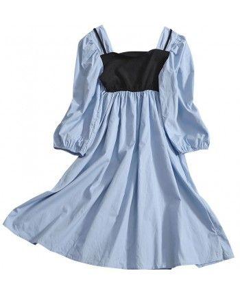 Сукня з трикотажною вставкою 110473