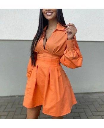 Бавовняна сукня-сорочка 110475