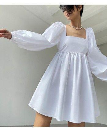 Бавовняна сукня з рукавом 110480