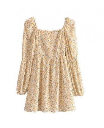 Жовта квіткова сукня 110479