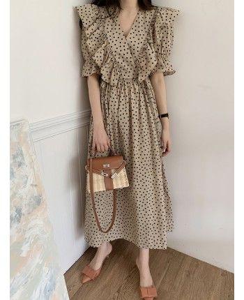 Бавовняна сукня в горох 110490