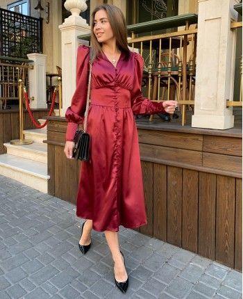Атласна сукня 110499