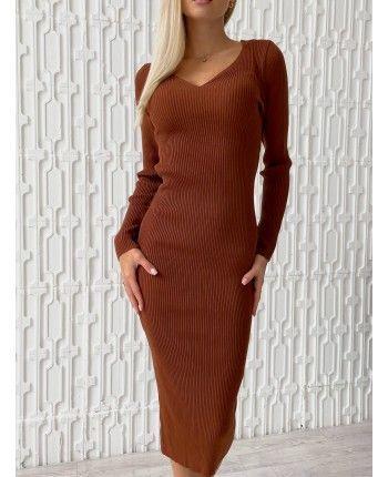 Терракотова сукня 110510