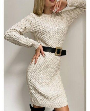 Тепла сукня з поясом 110509