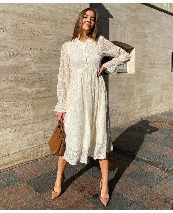 Кружевное платье 110489