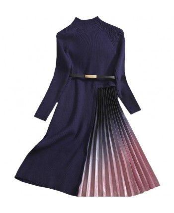 Трикотажна сукня пліссе 110500