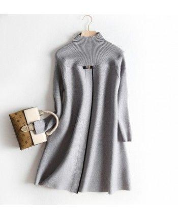 Теплое платье-колокольчик 110513