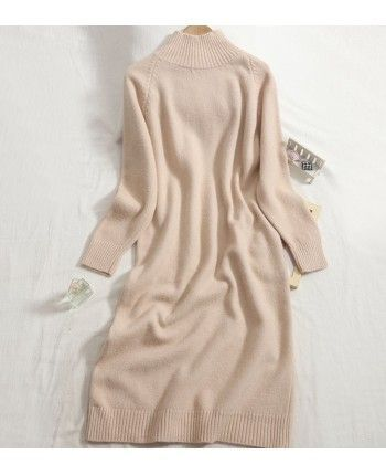 Теплое платье-свитер 110523