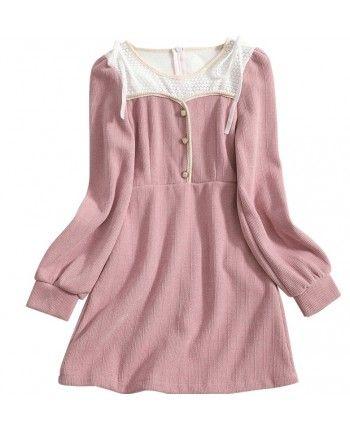 Теплое платье-мини 110530