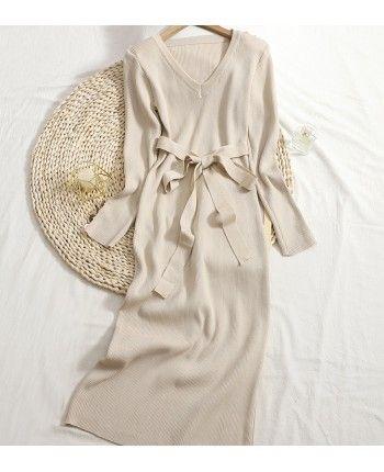 Платье миди с пуговицами 110528