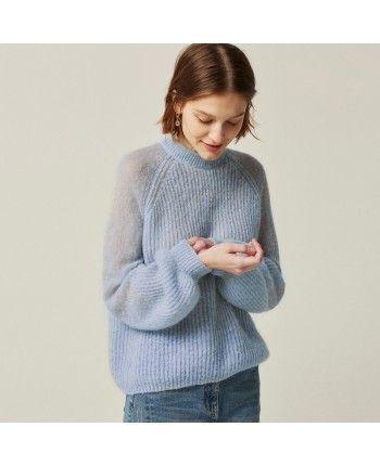 Нежный свитер мохер 110524